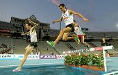 BARCELONA - JULY, 22: Alex Genest of Canada(L) and Jimenez Pentinel(R) of Spain during 3000m steeple