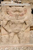 Ancient Egyptian god Bes at Dendera, Egypt