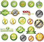 stock photo of whole-wheat  - Huge collection gluten free seals - JPG