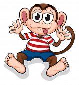 Illustration of a monkey on a white background
