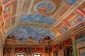 SALZBURG, AUSTRIA - AUGUST 2012 : Ceiling at the Banqueting hall, painted by by Arsenio Mascagn, at