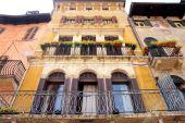 Facade In Piazza Delle Erbe In Verona