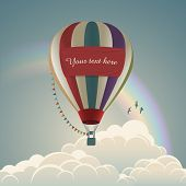 Hot air balloon, eps10 vector