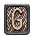 Metal button alphabet letter G