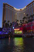 Treaure Island Hotel-casino At Night In Las Vegas, June 21, 2013.