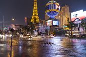 Flooding On Las Vegas Boulevard In Las Vegas, Nv On July 19, 2013