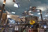 Bass Pro Shop Fishing Section At The Silverton Hotel In Las Vegas, Nv On August 20, 2013
