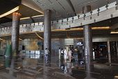 Aria Hotel Entrance In Las Vegas, Nv On August 06, 2013