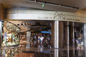 One Of The Entrances To Aria In Las Vegas, Nv On August 06, 2013