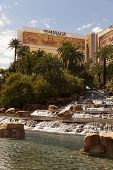 The Mirage Hotel And Waterfall In Las Vegas, Nv On March 30, 2013
