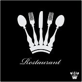 vector sign for restaurant with crown