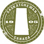 Vintage Style Saskatchewan Canada Stamp