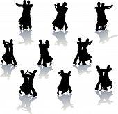 Ballroom Dance Silhouettes