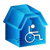 An image of a 3d nursing home icon.