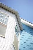 House Details Against Blue Sky