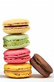 Pile Of Macaroons On White Background