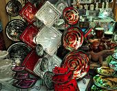Colorful plates souvenirs