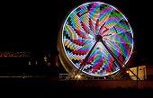 Ferris Wheel with Bright Lights