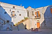 Episcopal palace. Monte Sant'Angelo. Puglia. Southern Italy.