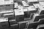 Stacks Of Newspaper
