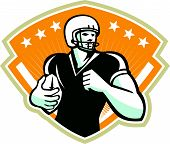 American Football Running Back Crest