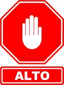 alto (stop) sign with hand