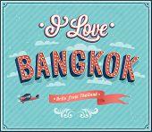 Vintage Greeting Card From Bangkok - Thailand.