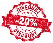 Discount 20% Red Grunge Stamp