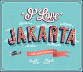 Vintage Greeting Card From Jakarta - Indonesia.