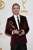 LOS ANGELES - SEP 22:  Derek Hough at the 65th Emmy Awards - Press Room at Nokia Theater on September 22, 2013 in Los Angeles, CA