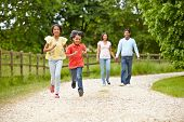 pic of 11 year old  - Indian Family Walking In Countryside - JPG