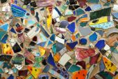 Fragment Of Colorful Mosaic On A Wall