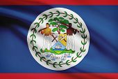 Постер, плакат: Series Of Ruffled Flags Belize