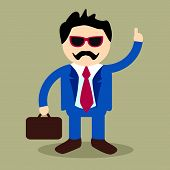Cool Business Man Vector