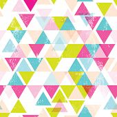 Seamless geometric triangle abstract background pattern in vector