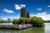 Twin Pagoda In Guilin