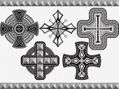 Set Celtic Crosses