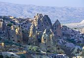 stock photo of chimney rock  - a view of cappadocia  - JPG