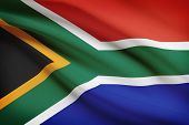 Series Of Ruffled Flags. Republic Of South Africa.