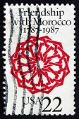 Postage Stamp Usa 1987 Arabesque, Dar Batha Palace, Fez