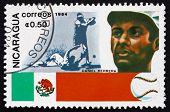 Postage Stamp Nicaragua 1984 Daniel Herrera, Baseball Player, Me