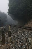 mystic railroad track without a train 02