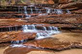 picture of archangel  - Cascading Archangel falls in Zion National Park - JPG