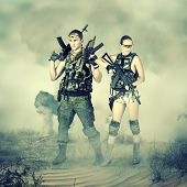 Military Man And Woman