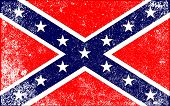 image of confederate flag  - The flag of the confederates during the American Civil War - JPG