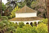 White Pavilion Garden Alcazar Royal Palace Seville Spain