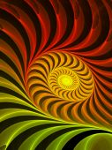 Glowing Red to Yellow Spiral