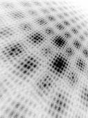 Black on White Moire Monochrome 3D Landscape