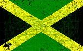 picture of rastafari  - The flag of Jamaica with a heavy grunge background - JPG
