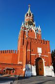 History Museum And Kremlin's Tower At Red Suare In Moscow.